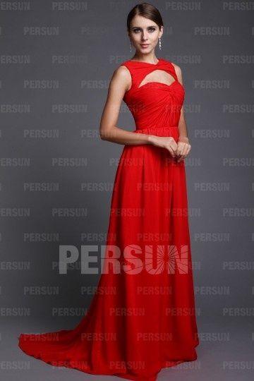 Robe rouge longue petit prix