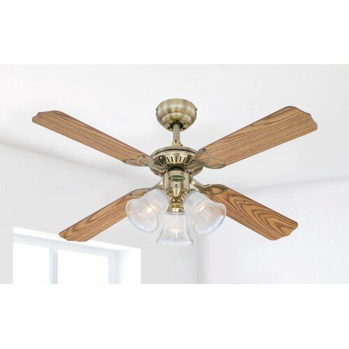 105cm Bluebell 4-Blade Ceiling Fan Marlow Home Co.
