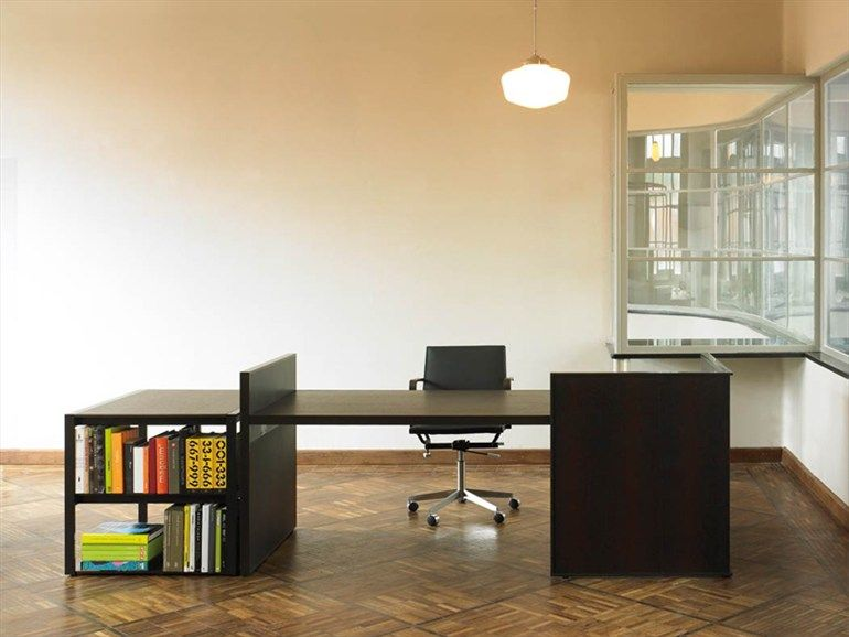 Wenge office desk with shelves Writing desk Desk Collection by ...