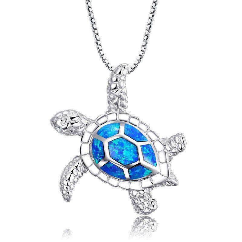Jewelry Accessories Key Chain Bracelet Necklace Pendants Blue Opal Heart Stud 925 Sterling Silver Earring
