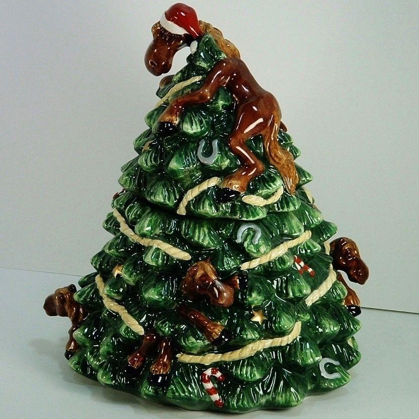 Elmer Horse Montana Silversmiths Lifestyles Cookie Jar Christmas ...