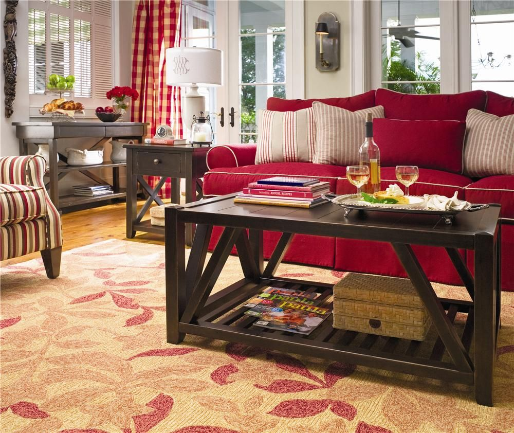 Paula Deen By Universal Furniture Paula Deen Home Hall Table With 2 Tray Drawers Cocktail Table And Side Table Livingroom Home Coffee Tables Furniture Decor #paula #deen #living #room #furniture