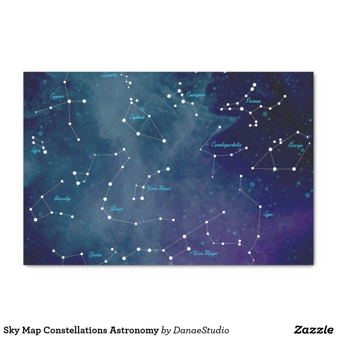 Sky Map Constellations Astronomy Tissue Paper