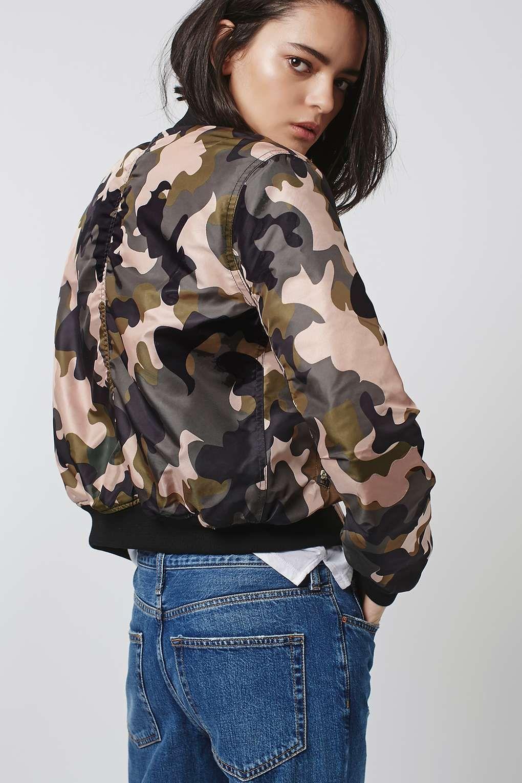 Pink Camo MA1 Bomber Jacket Patterned bomber jacket