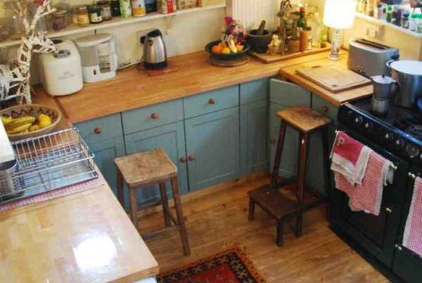 boat galley (a simple life afloat)   Wood countertops ...