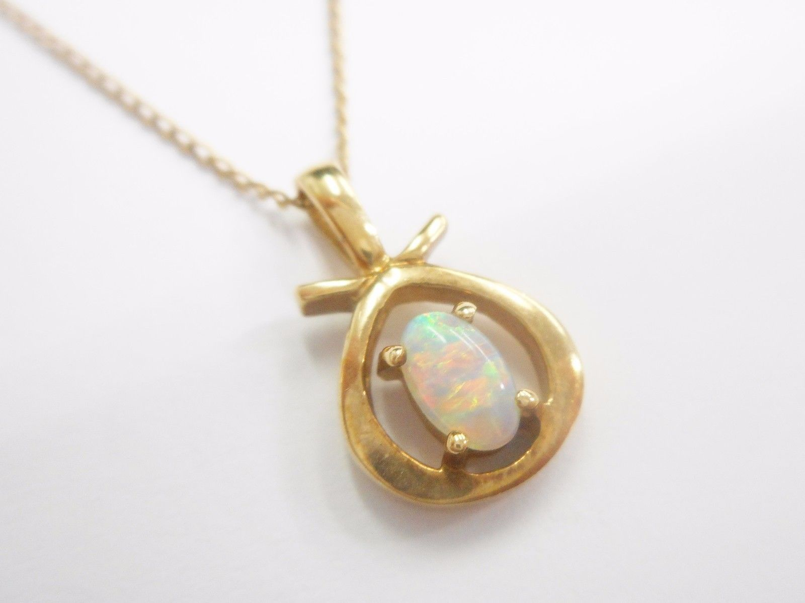 made necklace opal product pendant custom fire online