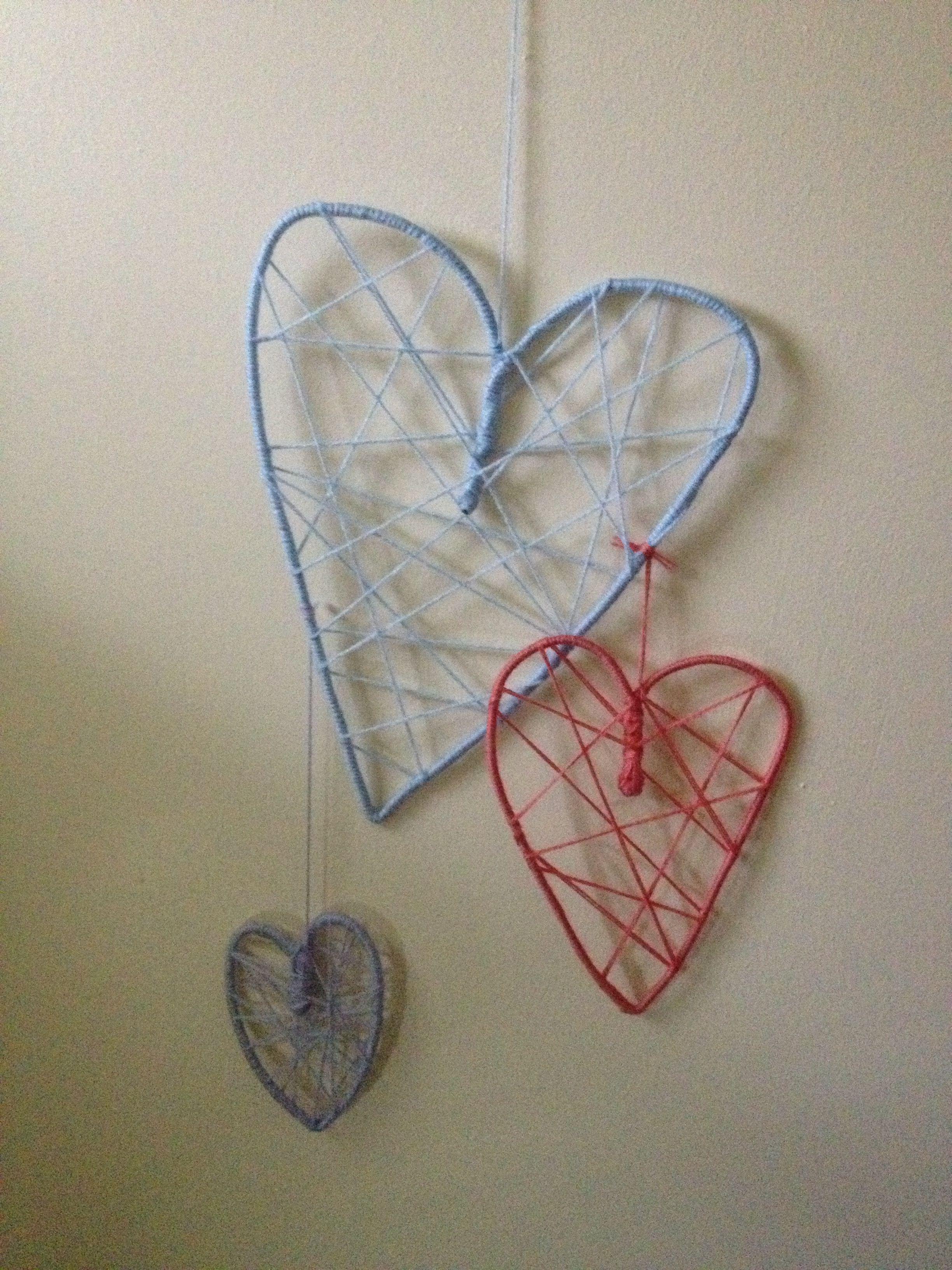Wool Heart Decorations