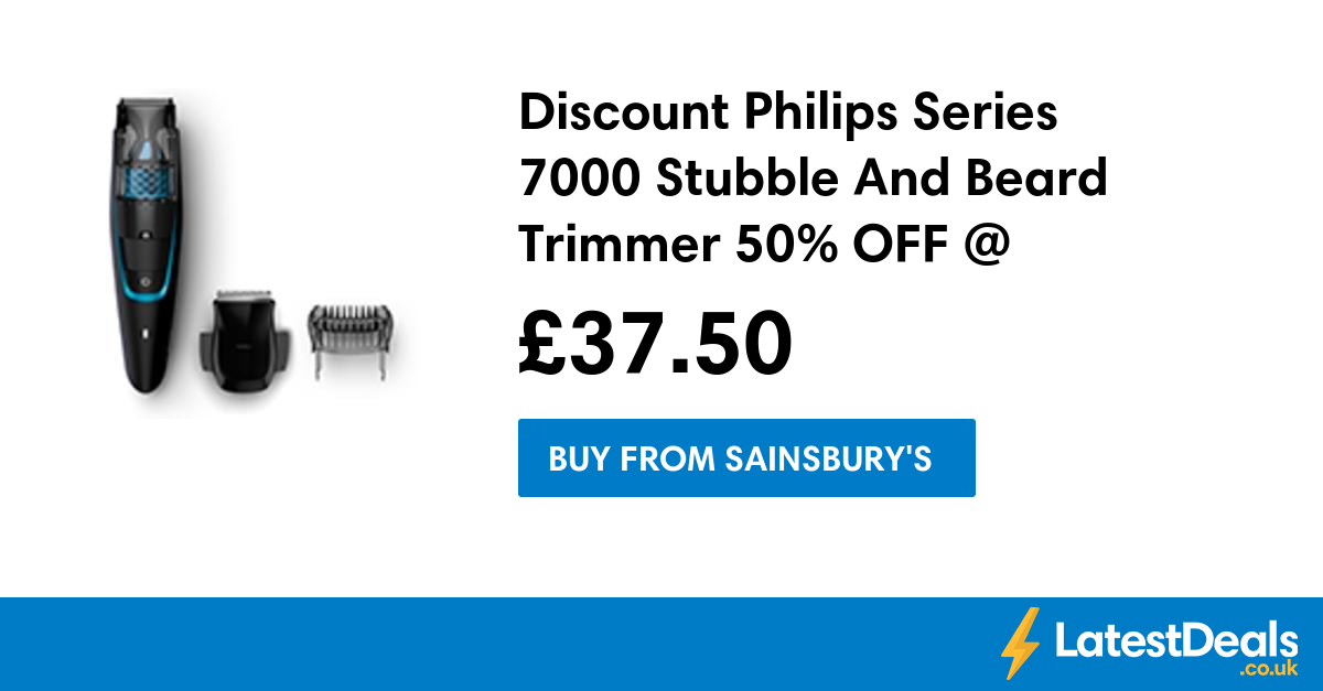 Discount Philips Series 7000 Stubble And Beard Trimmer 50