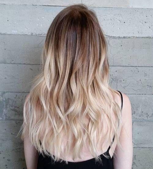 2 Licht Braun Weiß Blond Ombre Balayage Haare Blond