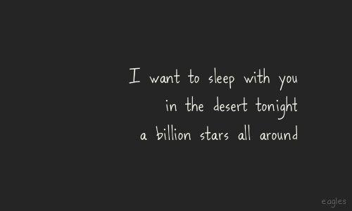 With A Billion Stars All Aroundpeaceful Easy Feeling Eagles