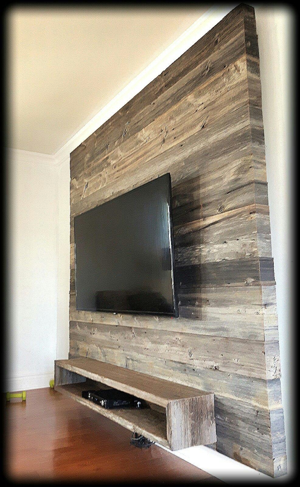 unite murale tv bois de grange tv