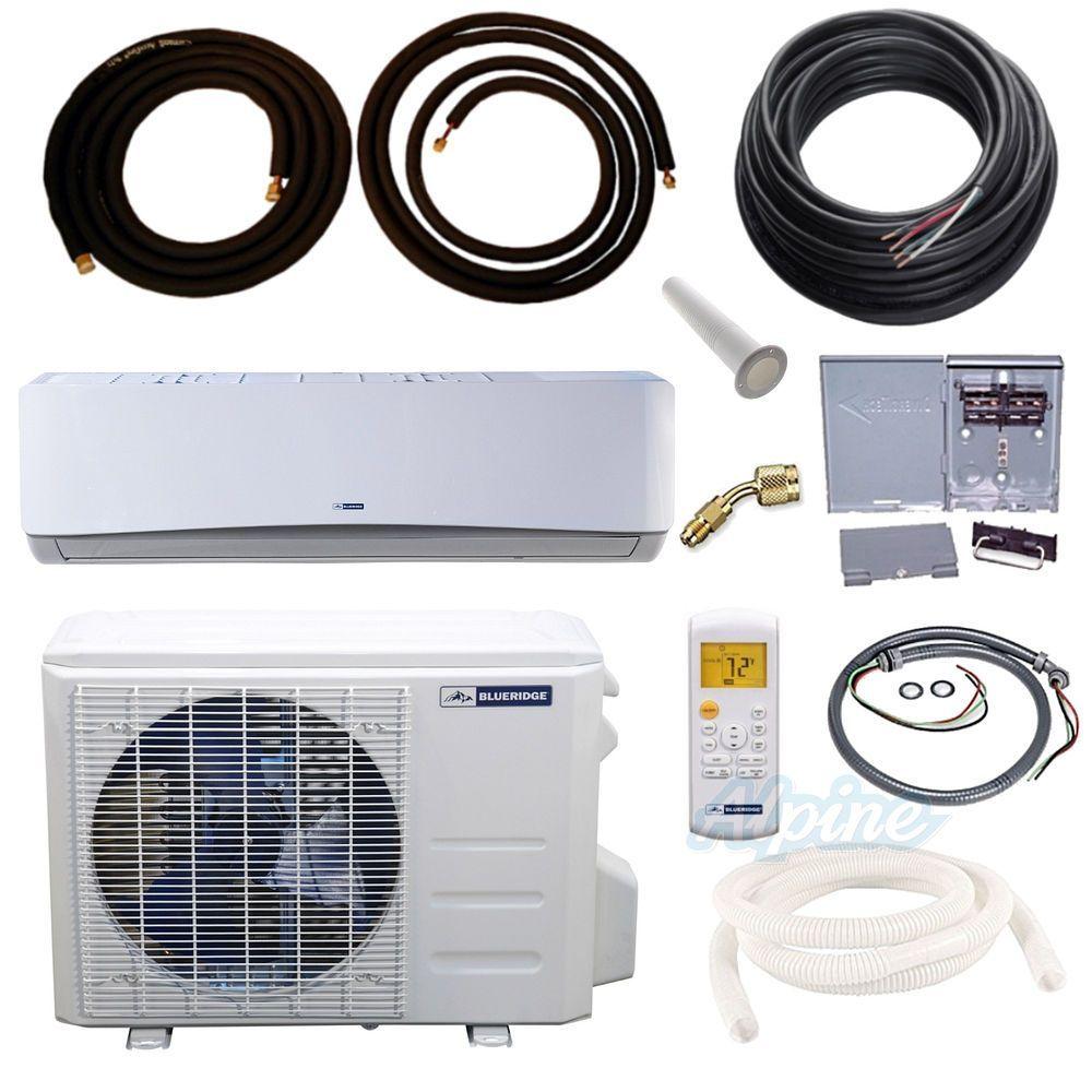 Blueridge Bm24y16 Kit 24 000 Btu 2 Ton 16 Seer Single Zone Mini Split Heat Pump Kit Wifi Capable Heat Pump