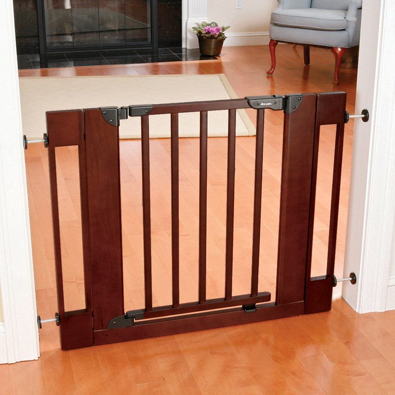 Dark Brown Baby Gate For The Home Pinterest