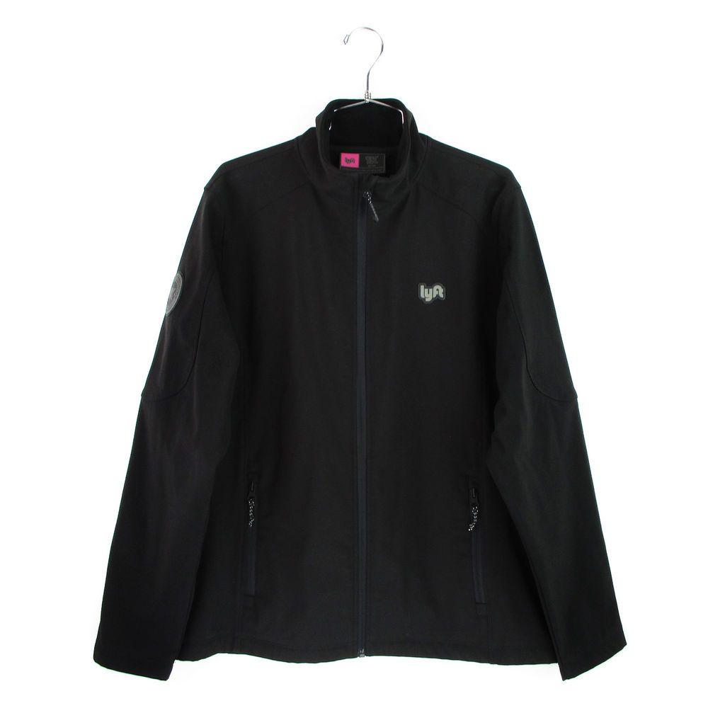 a5d95afb1ecc Lyft 1K Jacket Size Medium M Mens Black Soft Shell Fleece Lined Coat Full  Zip  Lyft  BasicJacket