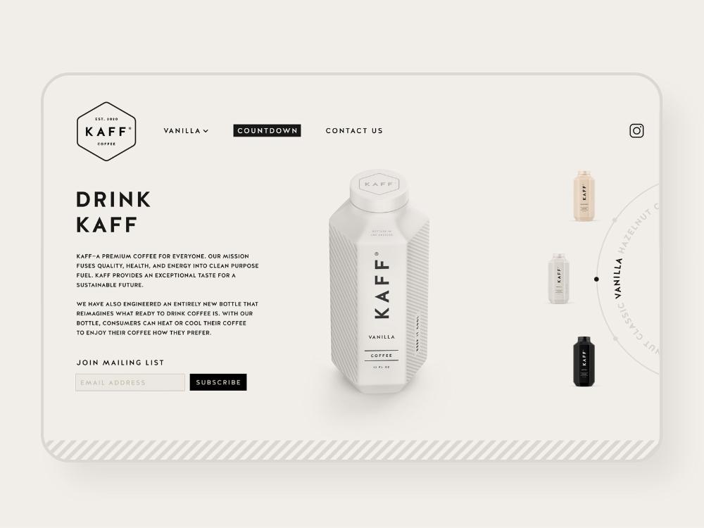 Kaff Coffee UI Design by Salih Küçükağa on Dribbble