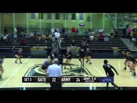 Army Volleyball Vanessa Wesley Match Point Kill Vs Colgate 10 6 17 Army Army Women Patriot League