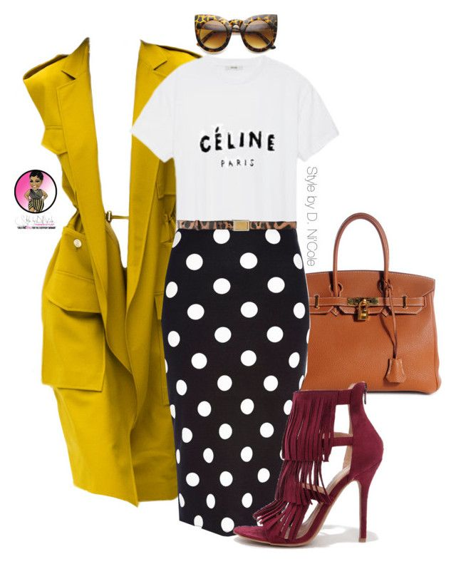"""""""Untitled #2518"""" by stylebydnicole ❤ liked on Polyvore featuring Acne Studios, Hermès, CÉLINE, River Island, Dolce&Gabbana and Wild Diva"""