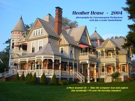 Huge Victorian It S Even Called The Heather House Perfect Victorian Homes Victorian Style Homes Mansions