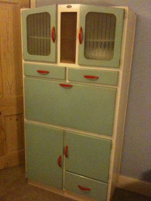 1950s Pride O  Home vintage retro kitchen dresser   eBay. Antique vintage industrial style kitchen hutch dresser cupboard