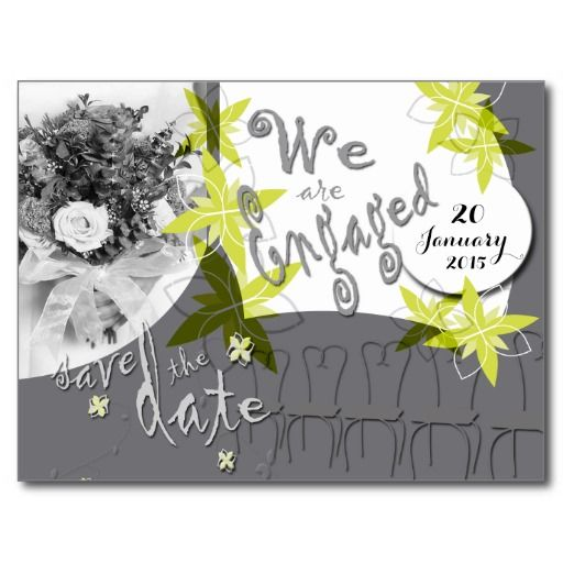 Glacier Grey Wedding Save the date postcard -- personalize and order affordable wedding invitations
