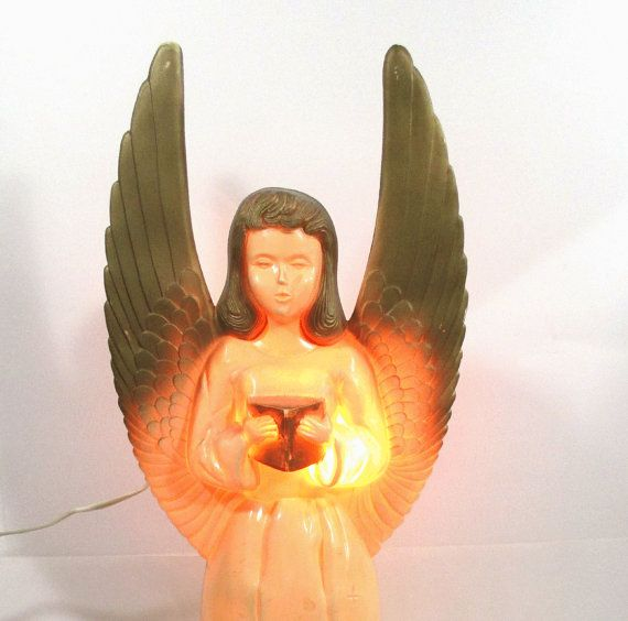 Vintage Blow Mold Christmas Carolers Christmas Lawn Decor: Vintage Lighted Angel Blow Mold Christmas By
