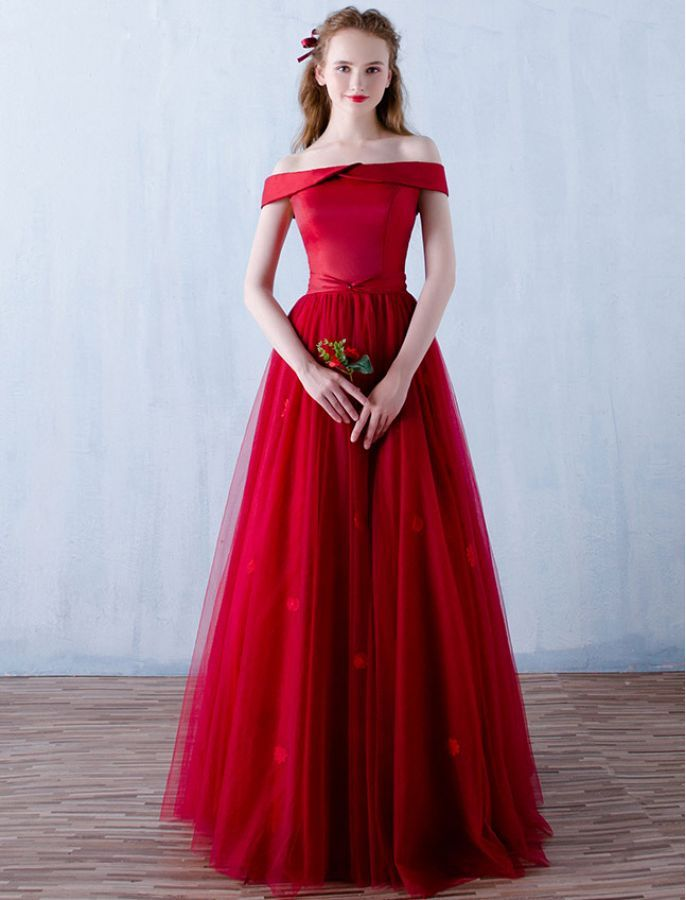 1950s Vintage Inspired Off Shoulder Prom Formal Dress | Vintage ...