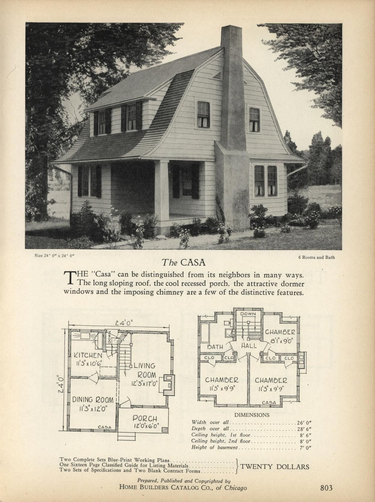 The CASA - Home Builders Catalog: plans of all types of small homes by Home Builders Catalog Co.  Published 1928