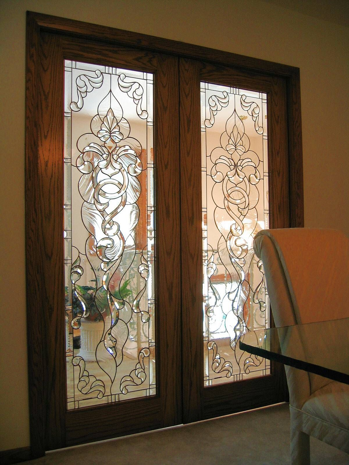 Stained glass pocket doors - Custom Stained Glass Pocket Doors Made By Artist Kim P Kostuch At Studio One Art