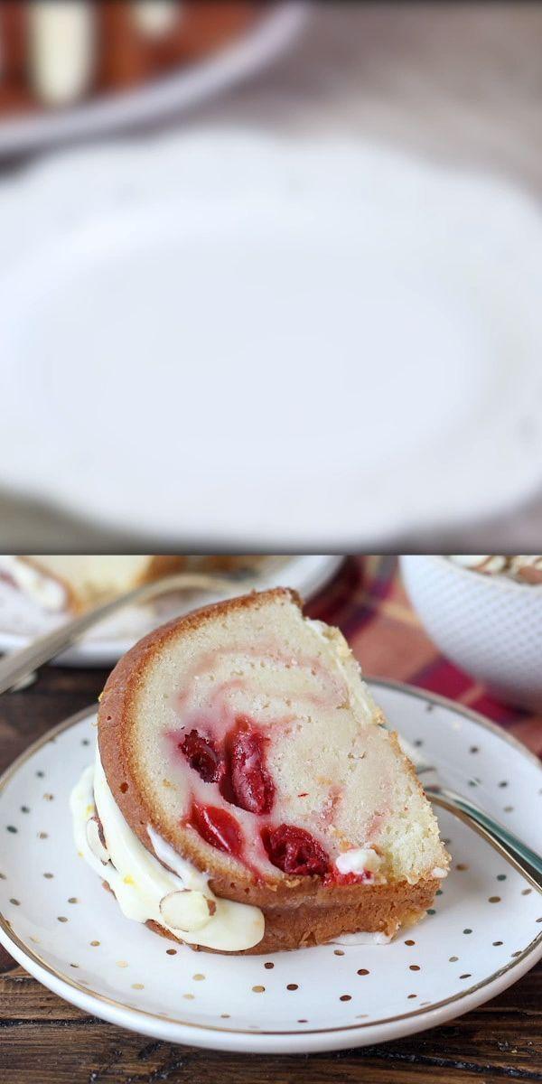 Cherry Almond Bundt Cake