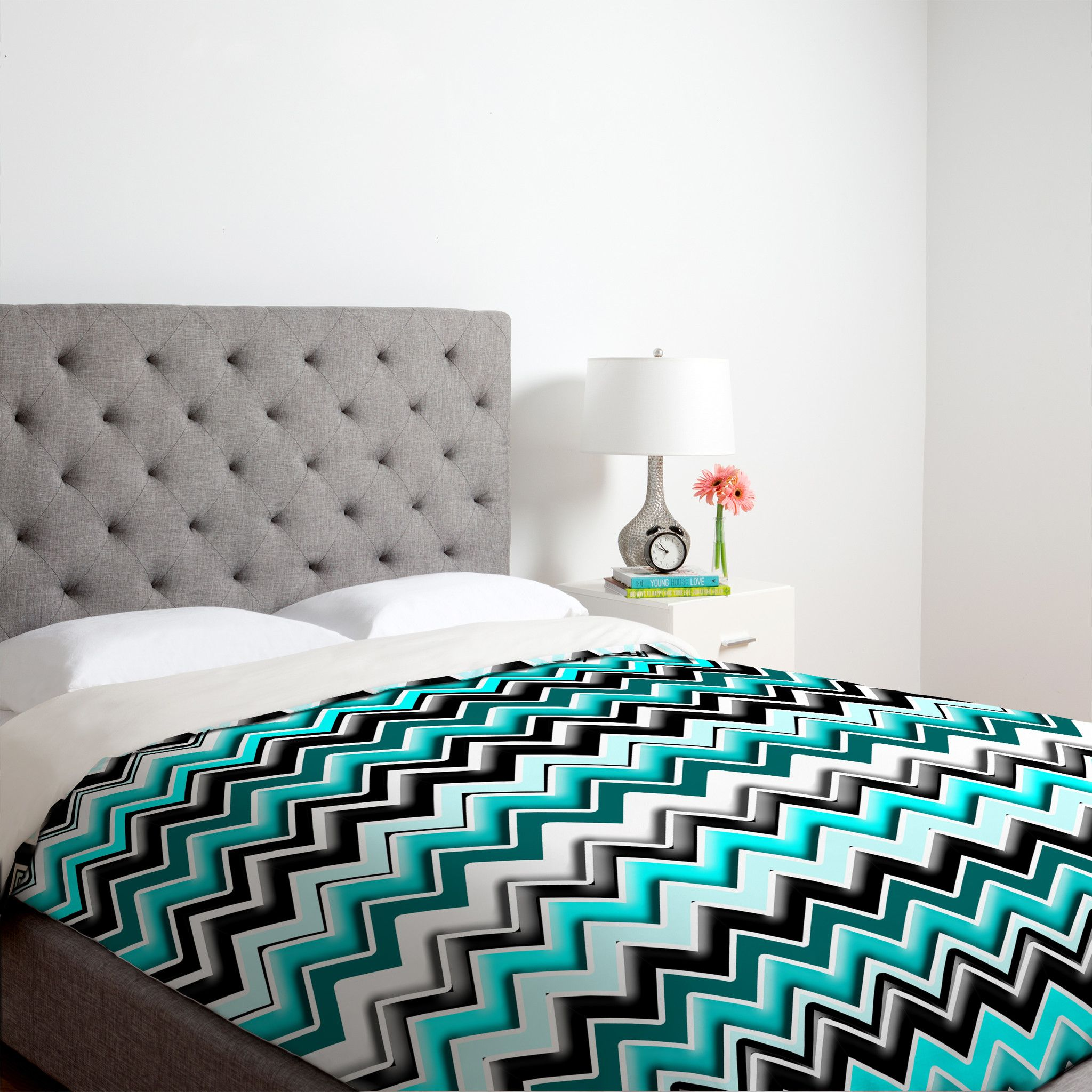Lovely Buy DENY Designs Madart Inc. Turquoise Black White Chevron Twin Duvet Cover  From Bed Bath U0026 Beyond