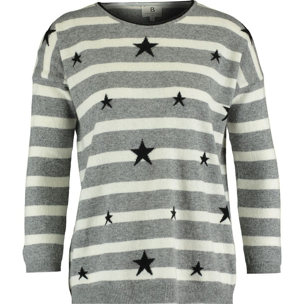 amazing quality on feet at good looking Grey Stripe Star Sweater - Jumpers - Knitwear - Clothing ...