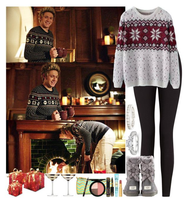 """Christmas day with your boyfriend (Niall)"" by irish26-1 ❤ liked on Polyvore featuring Lyssé Leggings, Chicnova Fashion, UGG Australia, CO, Too Faced Cosmetics, LSA International, Blue Nile and Tiffany & Co."