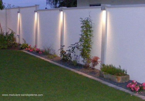 Tipos de bardas para casas bardas para casas bardas y for Jardines con iluminacion led