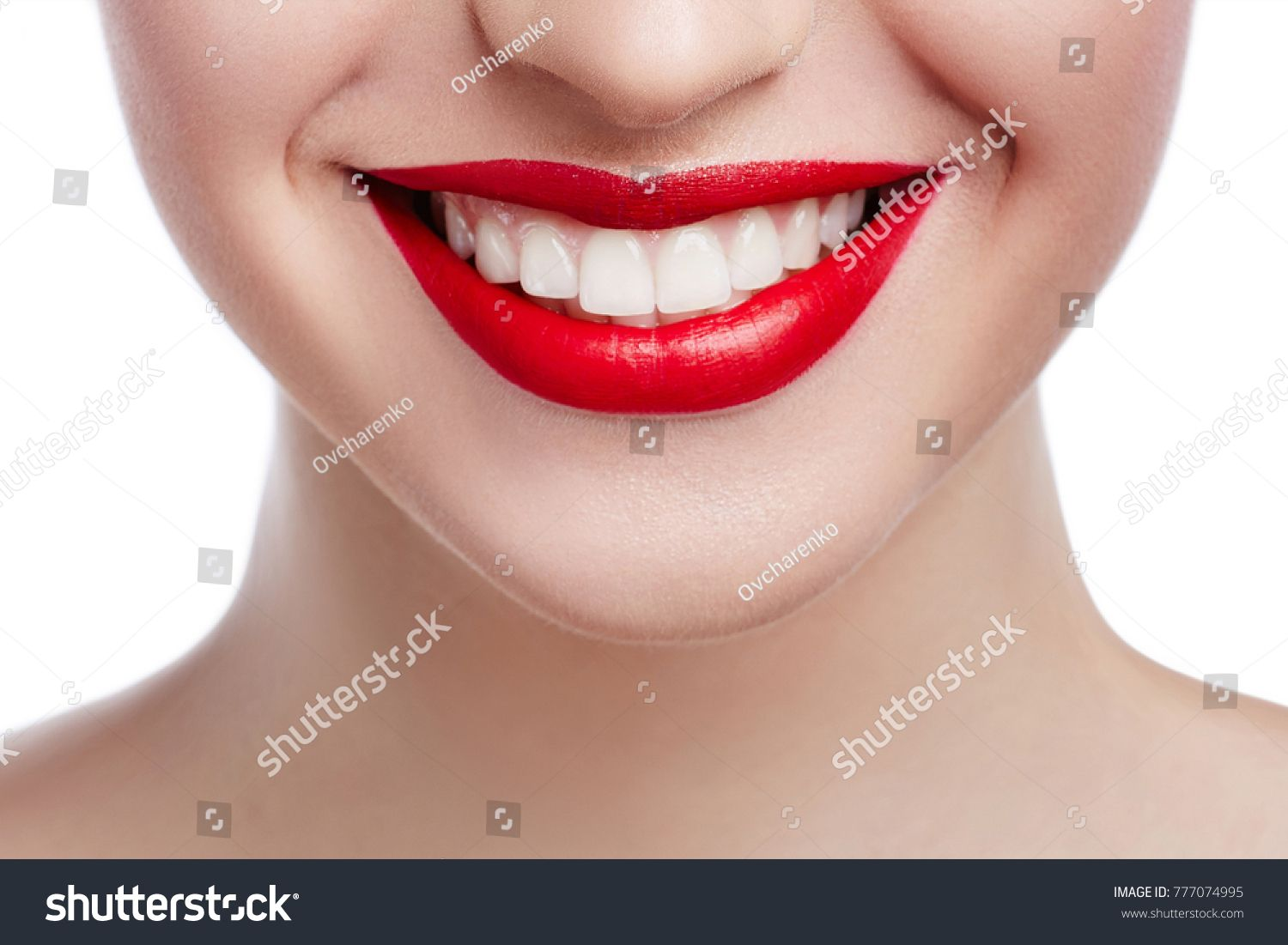 Healthy White Smile Close Up Beauty Woman With Perfect Smile