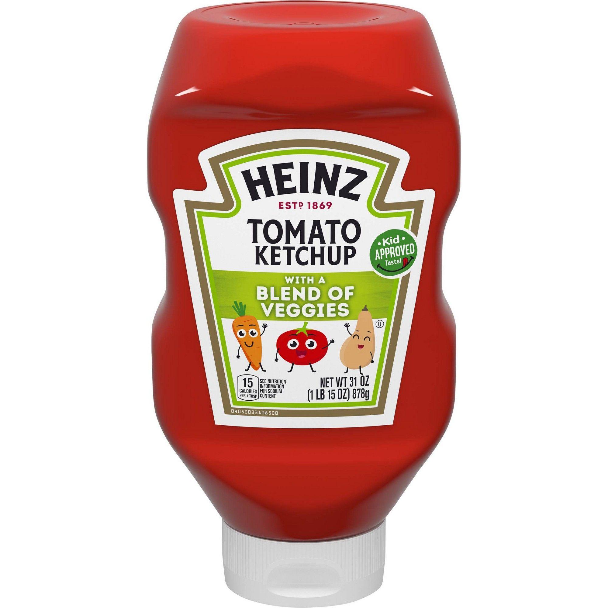 Heinz veggie blended ketchup 32oz ketchup veggies