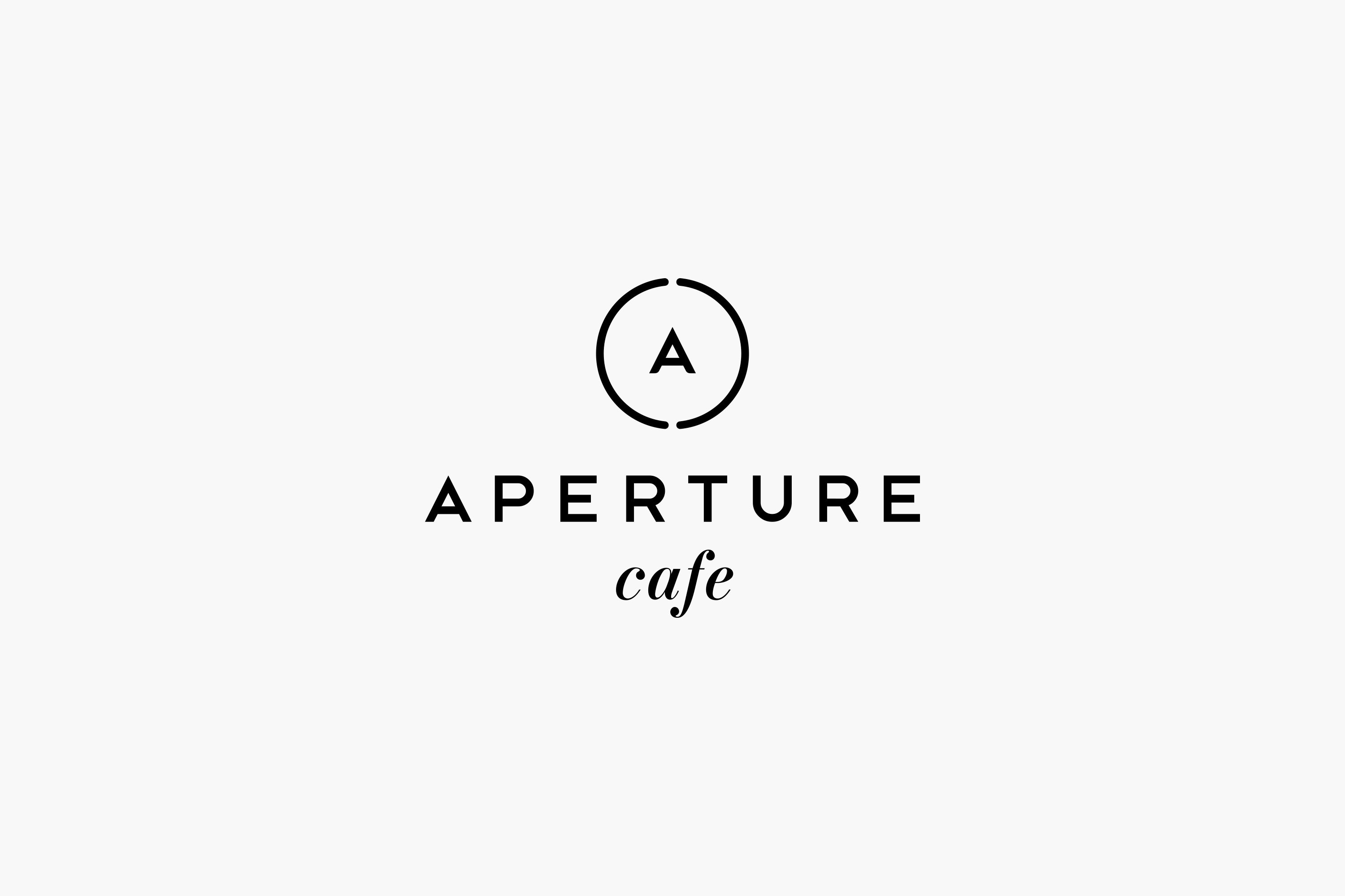 Superposition Studio Aperture Logo Logotype Cafe Typography Lettering