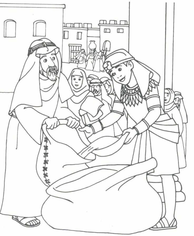 Joseph Brothers Coloring Page Kid Printables Joseph In Egypt