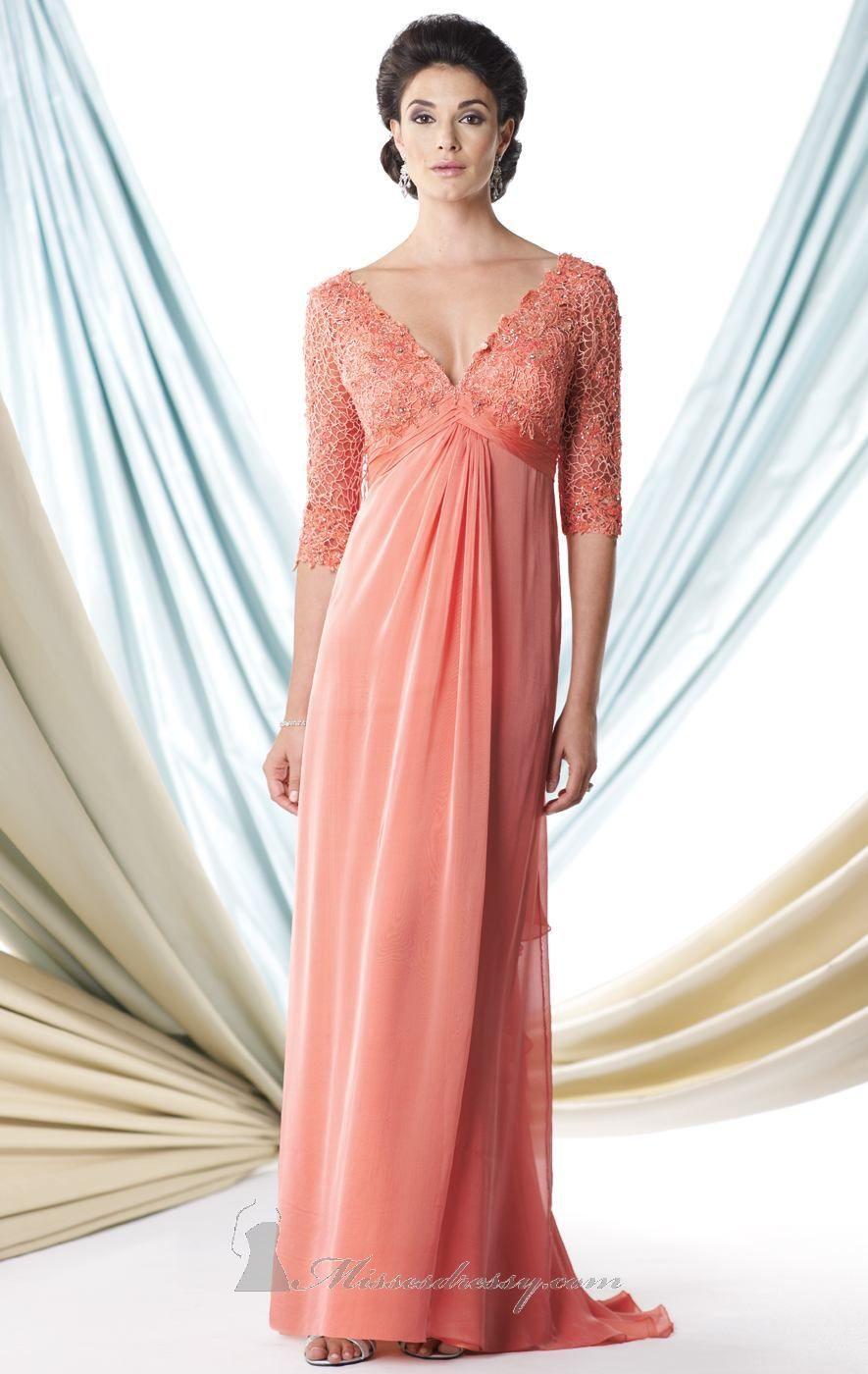 V-Neck Formal Gown by Mon Cheri Montage | Ponerse, Vestiditos y Cosas