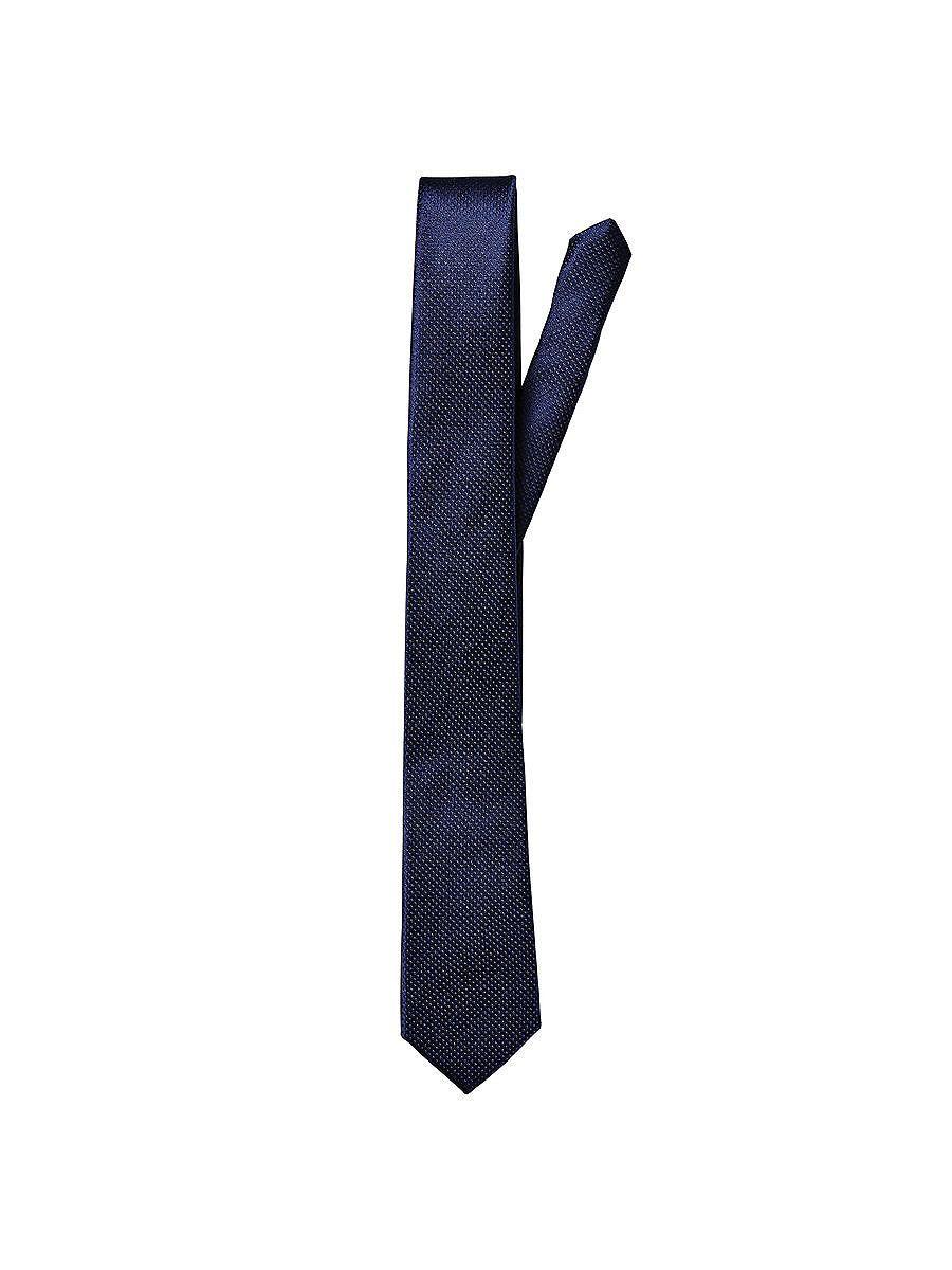 Accessories by JACK & JONES - Klassische Krawatte - 100 % Seide - Spitz zulaufende Enden - Misst an der breitesten Stelle 5,5 cm 100% Seide...