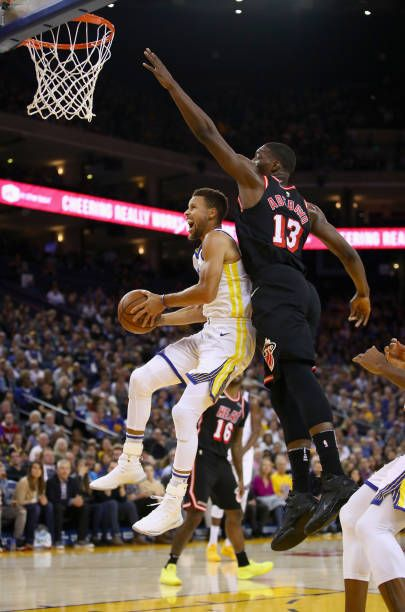 Stephen Curry Of The Golden State Warriors Drives On Bam Adebayo Of The Miami Heat At Oracle Stephen Curry Golden State Warriors Golden State Warriors Pictures