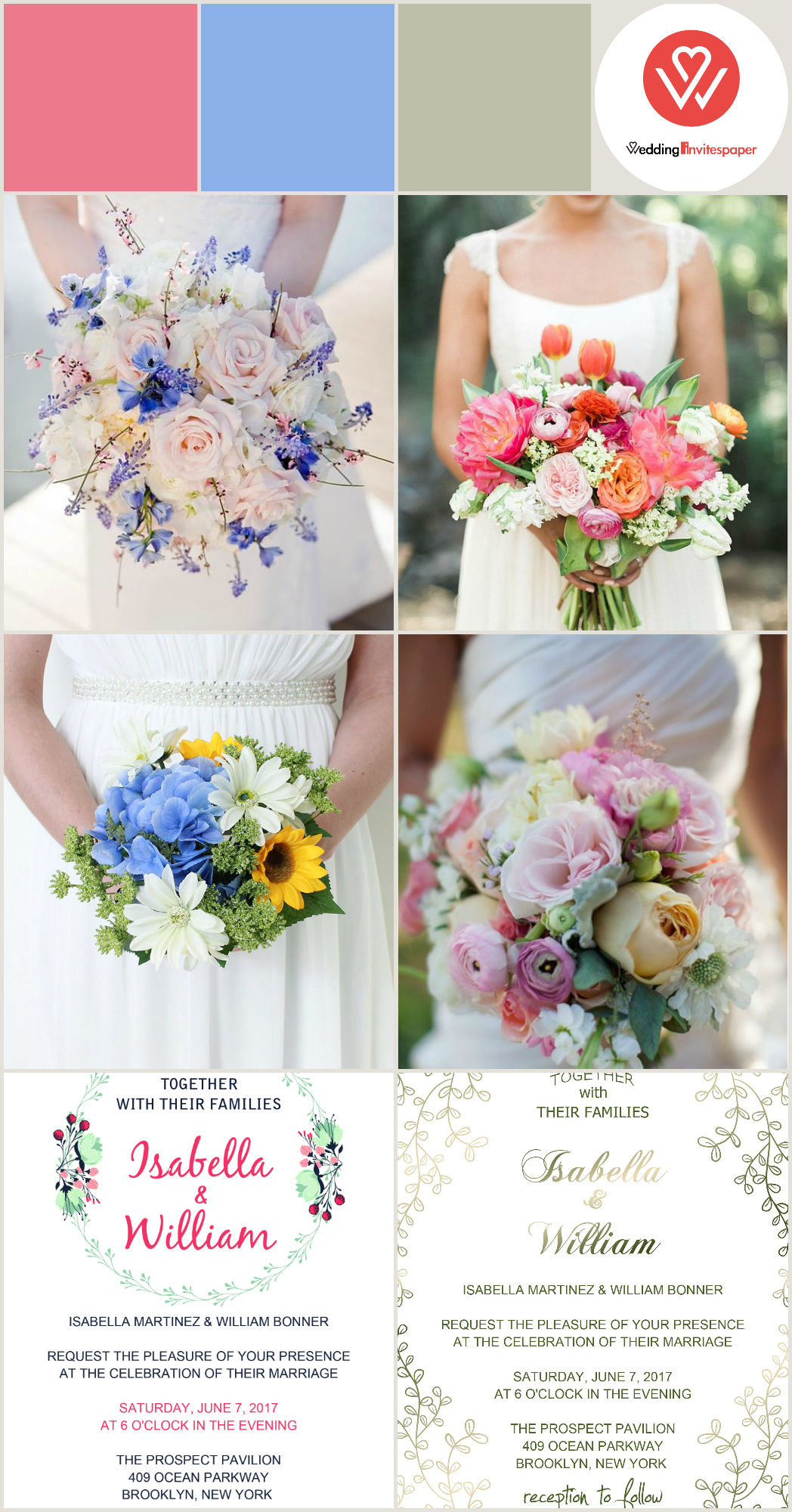 Spring Wedding Bouquets u Invitations of  You Need Know