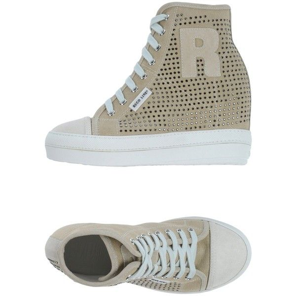 Ruco Line Sneakers ($211) ❤ liked on Polyvore featuring shoes, sneakers,  beige