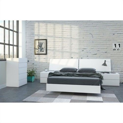 Best Nexera District 5 Piece Full Bedroom Set In White Lacquer 640 x 480