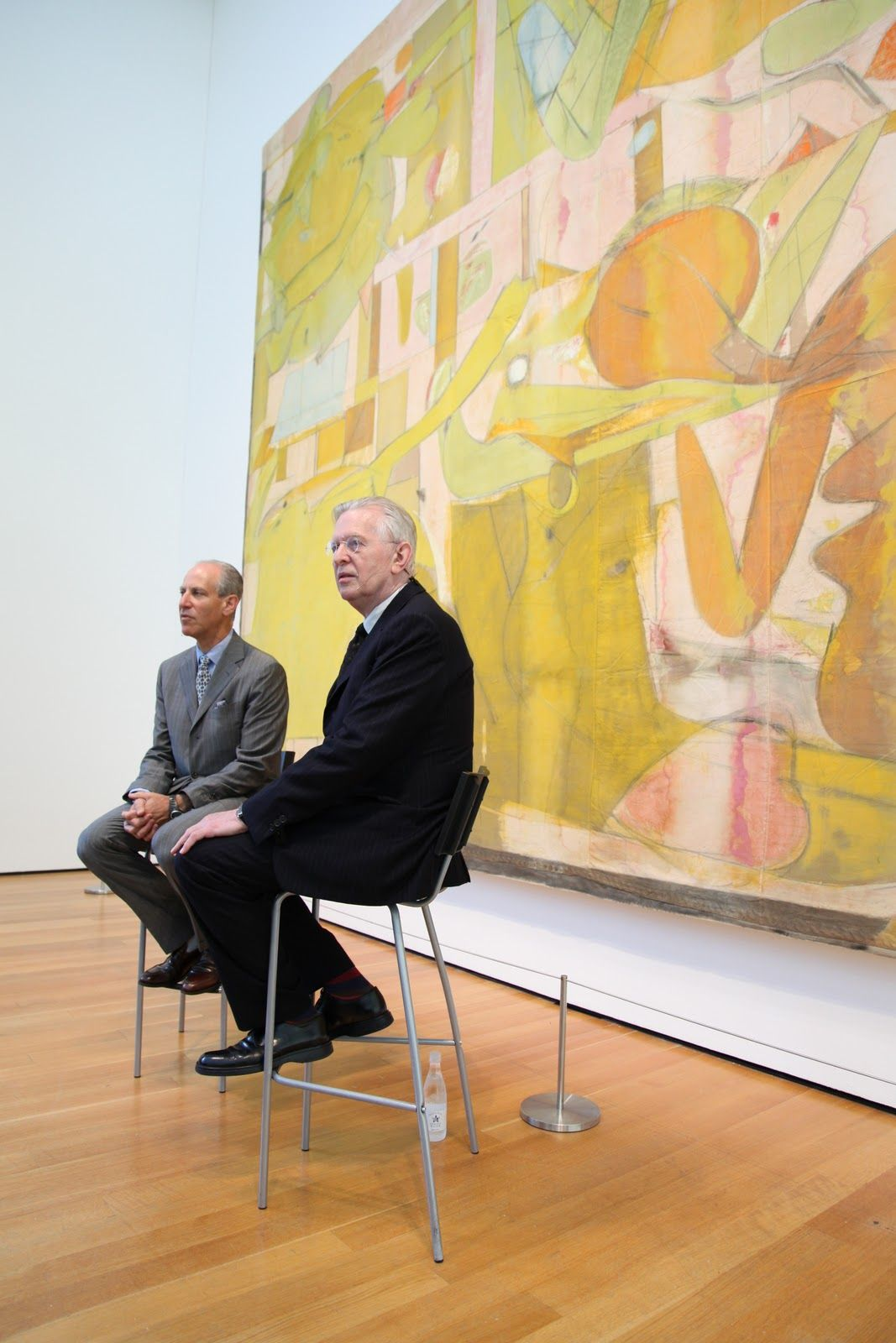 Director of the Museum of Modern Art, Glenn Lowry, and the Chief ...