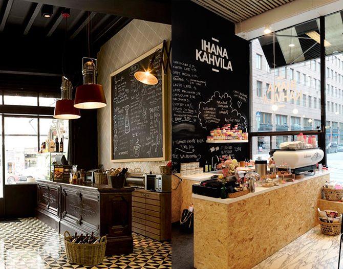 Retrovanguardia bistro dise o interior arquitectura - Disenos de cafeterias ...