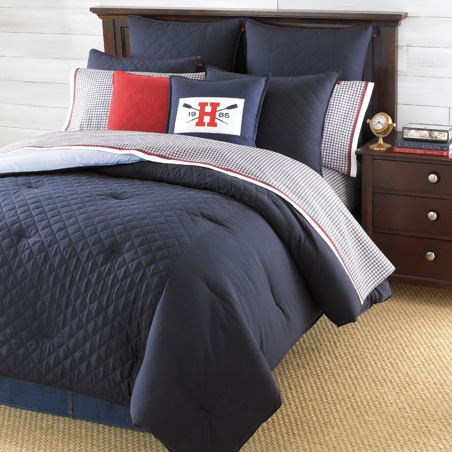 Charmant Tommy Hilfiger Hilfiger Prep Midnight Bedding. Love The Navy Blue...just Not