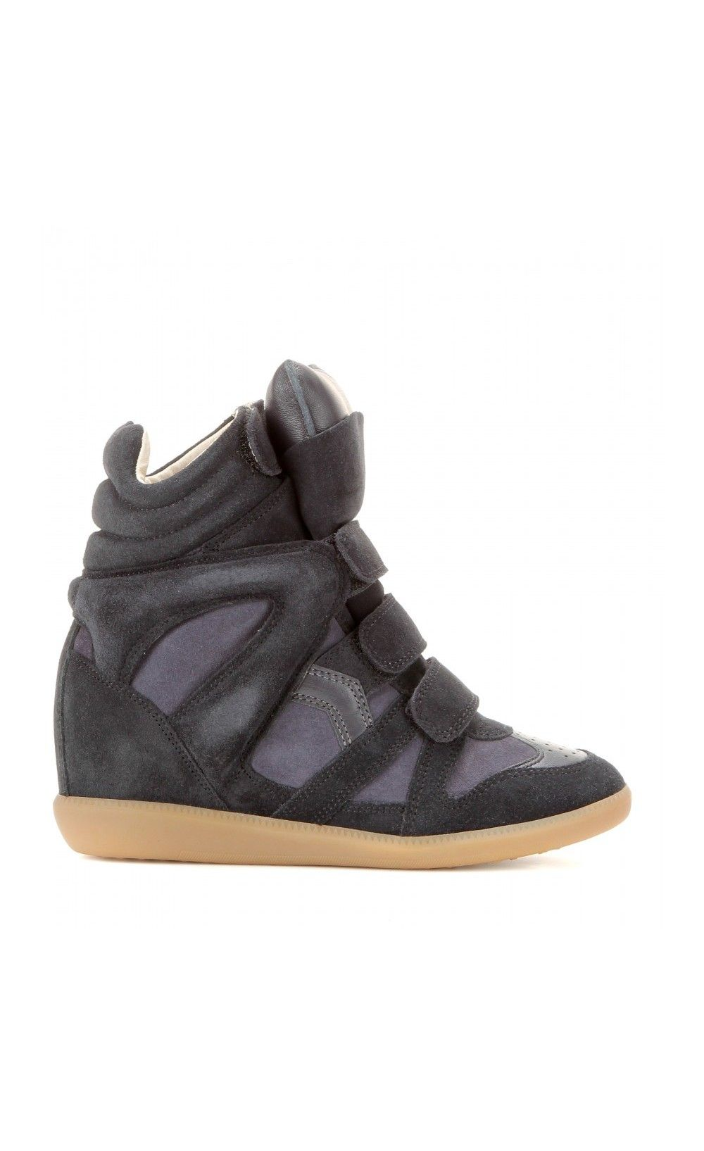 Isabel Marant Bekett Leather And Suede Sneakers Anthracite