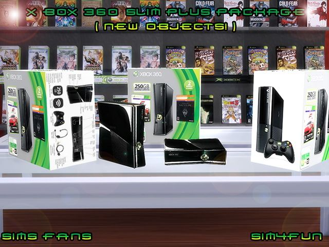 X Box 360 Slim + Package New Mesh! by Sim4fun at Sims Fans