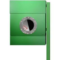 Photo of Radius Design Letterman 2 Briefkasten grün (ral 6018) ohne Klingel mit Pfosten in Briefkastenfarbe R