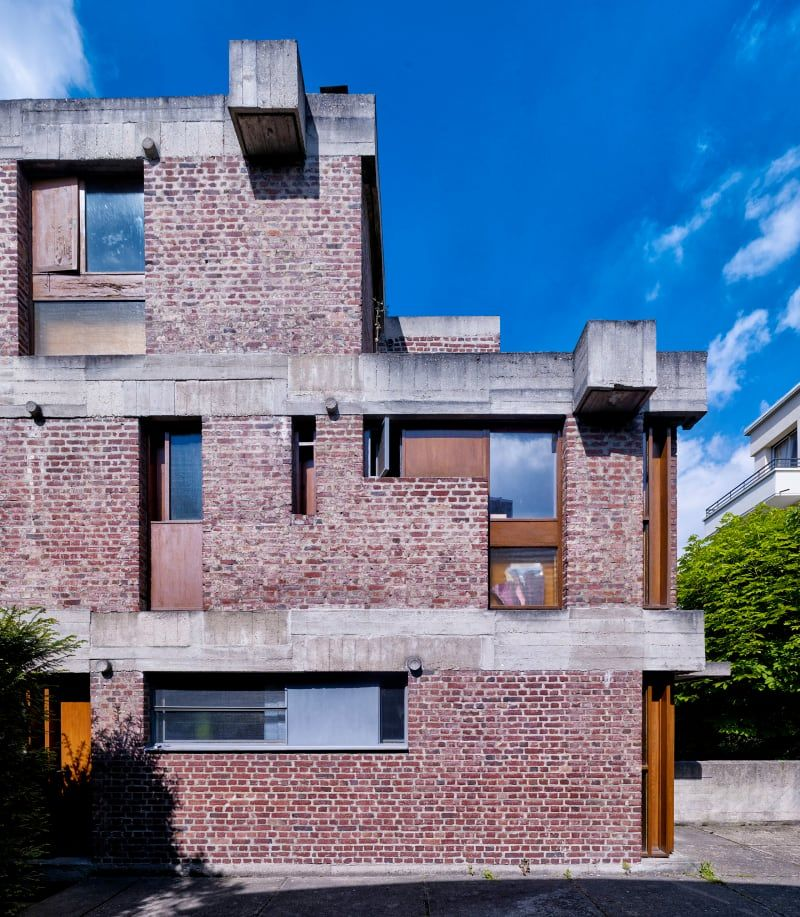 Le Corbusier, Cemal Emden · Maisons Jaoul Corbu Pinterest